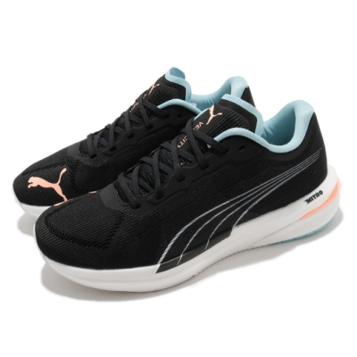 Puma 慢跑鞋 Velocity Nitro 運動 女鞋 輕量 透氣 舒適 避震 路跑 健身 黑 粉 19569712
