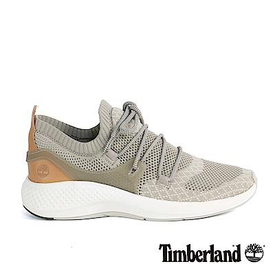 Timberland 女款FlyRoam Go灰褐色皮革針織飛型鞋