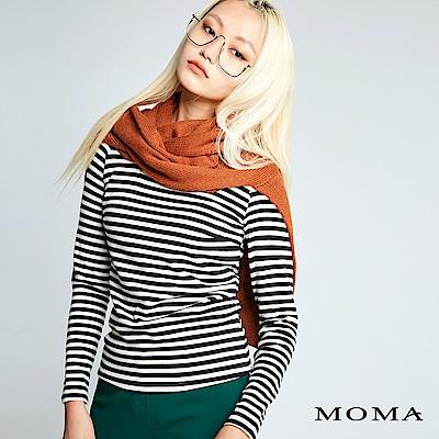 MOMA 純色綁帶披肩
