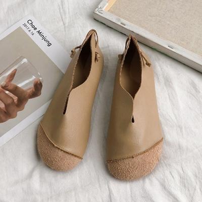 KEITH-WILL時尚鞋館 爆推甜美俏佳人大頭鞋-駝色
