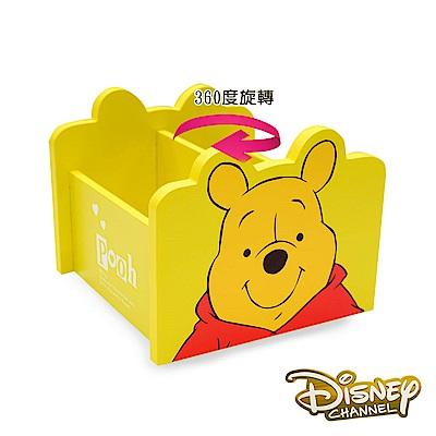 Disney 小熊維尼 360旋轉收納盒 筆盒 筆桶 飾品盒 置物盒