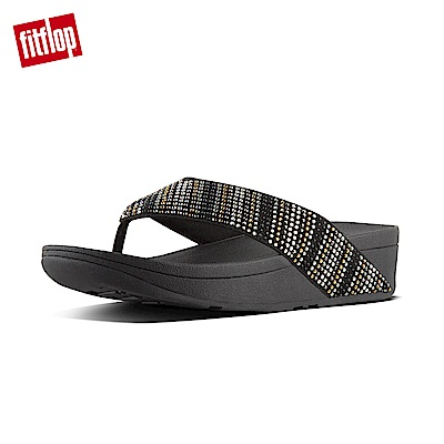 FitFlop STROBE TOE-THONG SANDALS黑