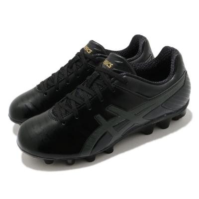 Asics 足球鞋 DS Light 3 Jr 童鞋 亞瑟士 草地 膠釘 運動 中童 黑 金 1104A002001