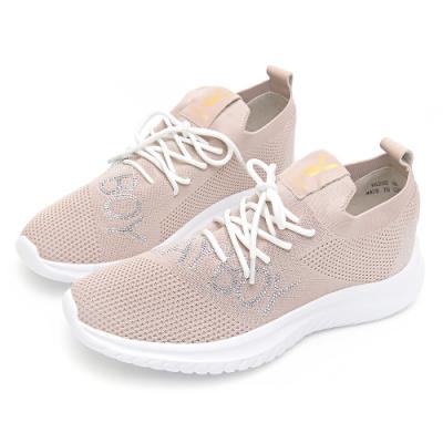 PLAYBOY閃鑽LOGO襪套式休閒鞋-粉-Y628599
