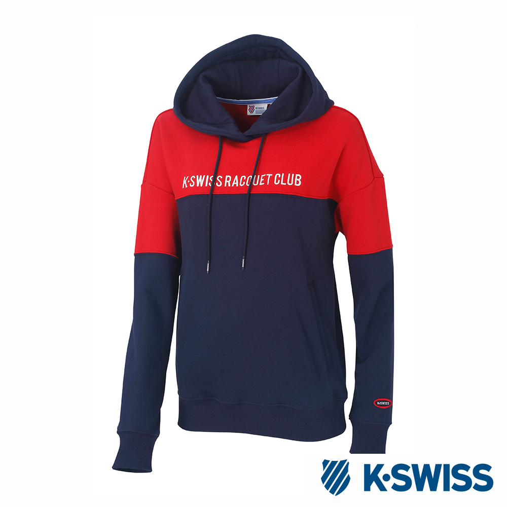 K-SWISS Hooded Sweat Shirts時尚連帽上衣-女-紅