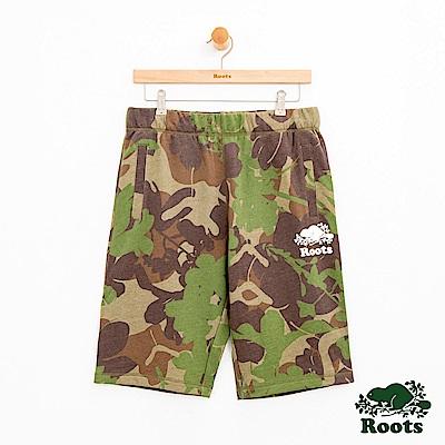 男裝Roots 迷彩棉質短褲-灰