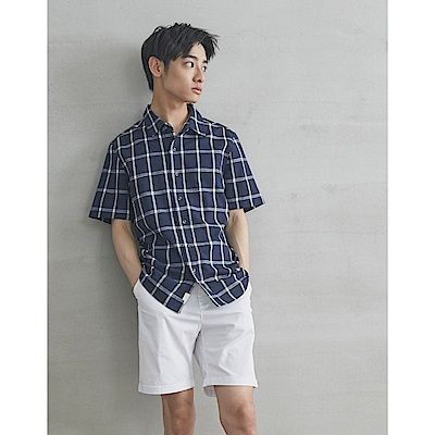 CACO-大格紋短襯衫-男【SPA046】