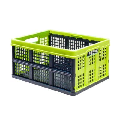 比利時EVOBOX摺疊收納籃46L -黑/綠色