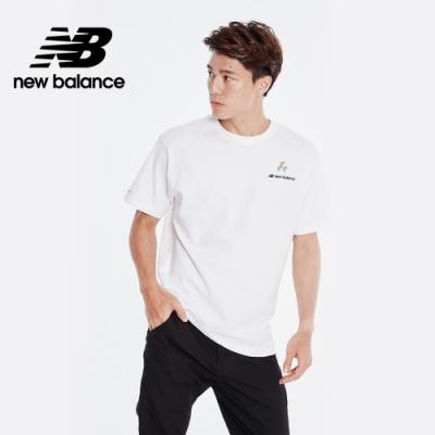 New Balance 藝術家聯名背部插畫短袖上衣_男性_白色_AMT01560WT