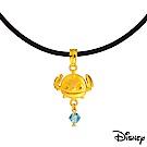 Disney迪士尼系列金飾 黃金/水晶墜子-我是迪迪款 送項鍊