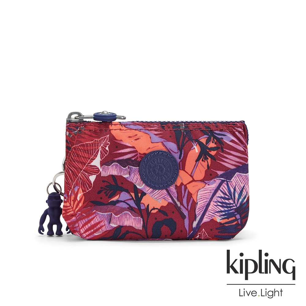 Kipling 手繪度假夕陽日光三夾層配件包-CREATIVITY S