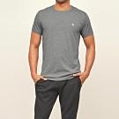 麋鹿 AF A&F 經典圓領電繡麋鹿素面短袖T恤-深灰色