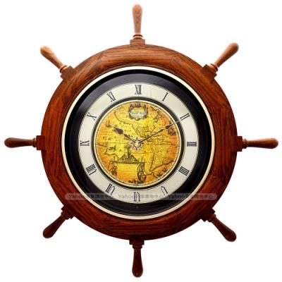 RHYTHM日本麗聲 時間之舵造型報時音樂掛鐘/64cm