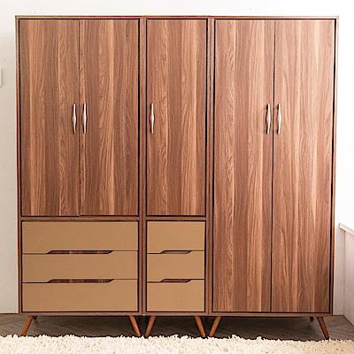 時尚屋  萊恩6.3尺雙吊+三抽衣櫃  寬190.3x深59.4x高196cm
