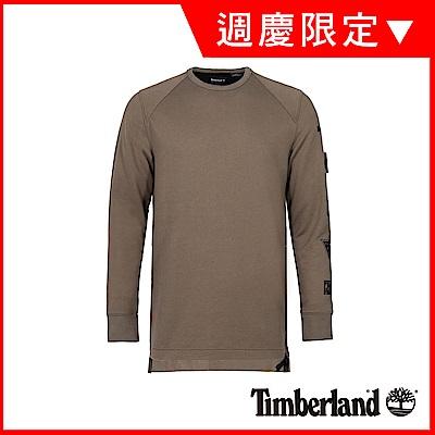 Timberland 男款灰褐色潮流圓領衛衣|A1NKM