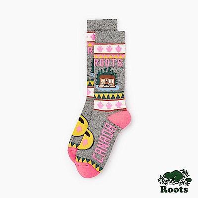 Roots -配件-加拿大小木屋高筒襪 (女) - 白