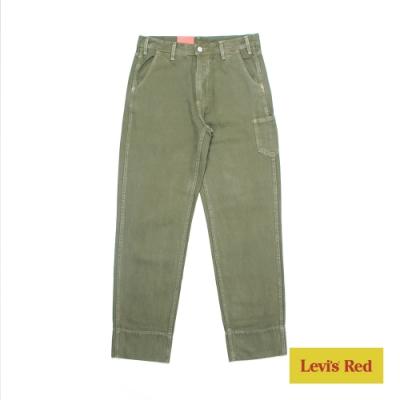 Levis Red 工裝手稿風復刻再造 男款 Stay loose復古寬鬆版繭型工作褲 軍綠 寒麻纖維