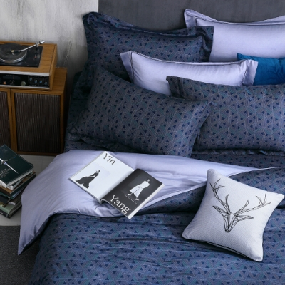 OLIVIA  Solomon 標準雙人床包枕套三件組 400織高織紗匹馬棉