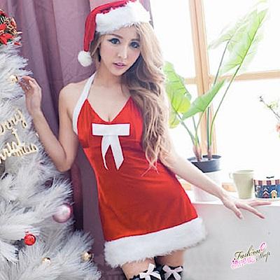 聖誕裝 角色扮演聖誕服 跨年派對服 紅色聖誕禮物含聖誕帽 流行E線