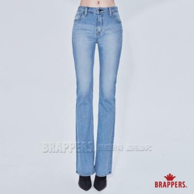BRAPPERS 女款 新美腳 ROYAL系列-中腰彈性喇叭褲-淺藍