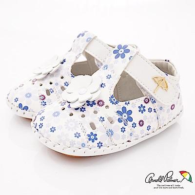 雨傘牌 專櫃軟質小碎花娃娃鞋款 EI 73228 白(小童段)