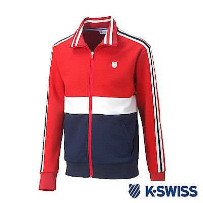 K-SWISS Tracksuit Zip Up運動外套-男-紅