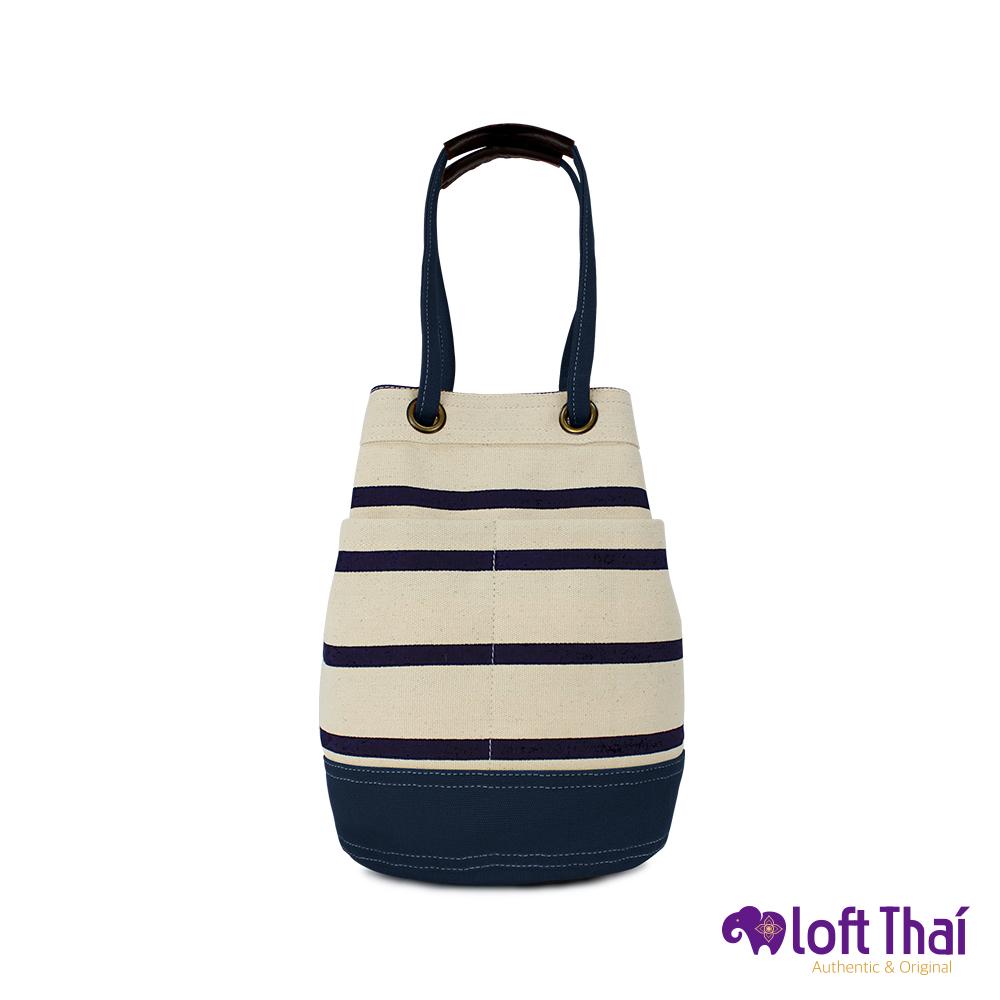 Loft THAI | 泰.兩用帆布水桶包(小) | Stripe/navy @ Y!購物
