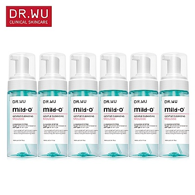 [洗卸箱購] DR.WU溫和舒緩潔顏慕絲160MLX6入+贈DR.WU溫和淨透體驗組