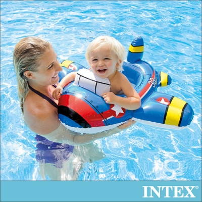 INTEX 幼童造型游泳圈-飛機/怪手/快艇 適用1-2歲(59586)