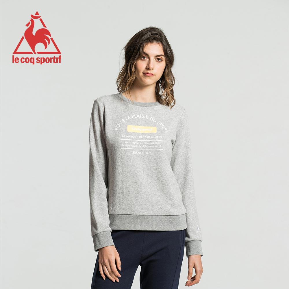 le coq sportif 法國公雞牌運動毛圈圓領大學T恤 女-灰