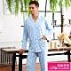 睡衣 針織棉男性長袖褲裝睡衣(R88210-5度假風情) 蕾妮塔塔 product thumbnail 1