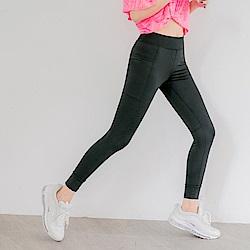 台灣製造~吸濕排汗彈力修身運動褲/瑜珈褲-OB大尺碼