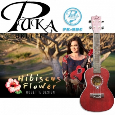 PUKA PK-HBC/烏克麗麗/23吋/Hidiscus Flower 扶桑花系列