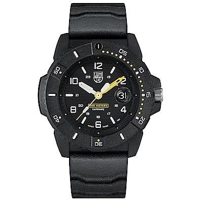 LUMINOX 雷明時NAVY SEAL 3600 海豹部隊腕錶 – 黑黃 / 45mm
