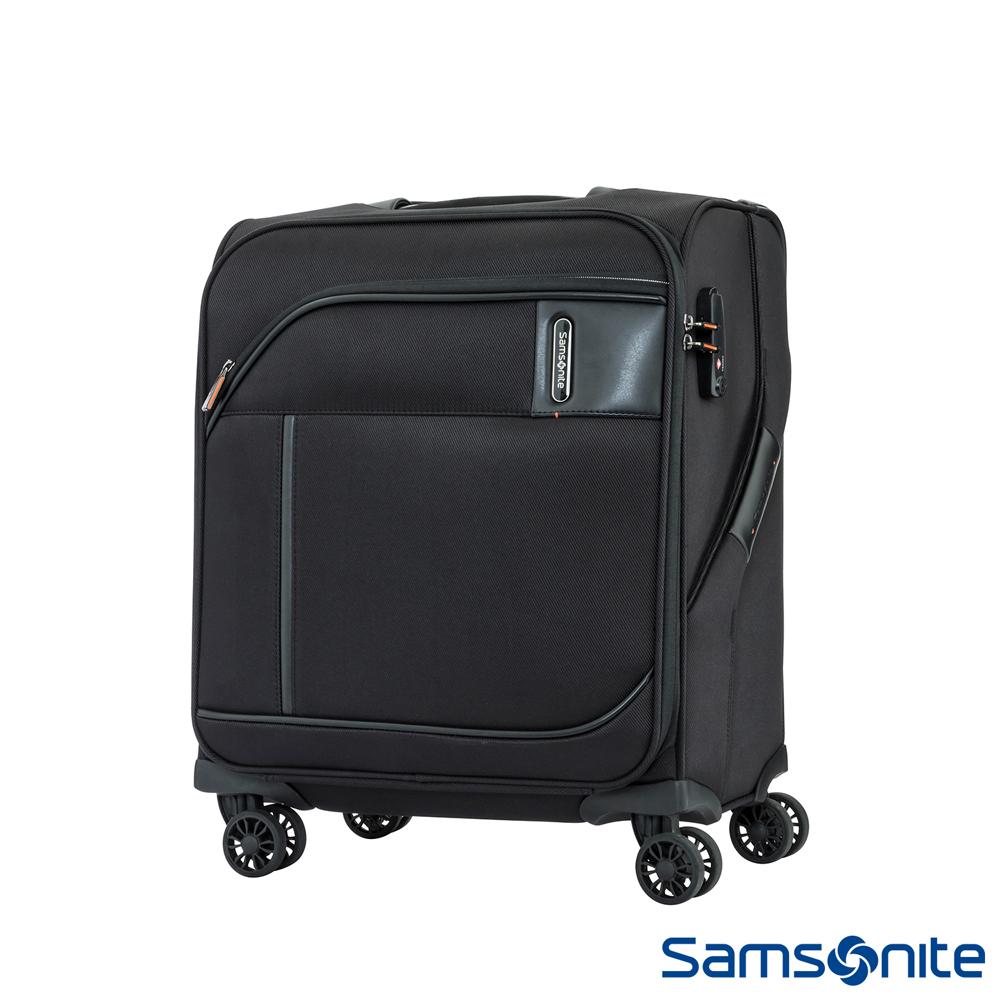 Samsonite新秀麗 18吋Janik商務功能性飛機輪TSA布面登機箱(黑色)