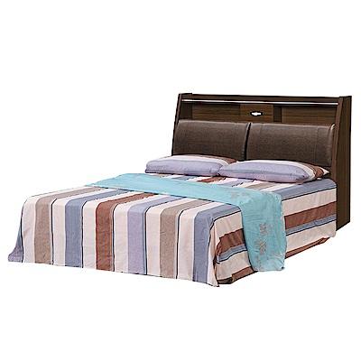 Bernice-華倫5尺雙人床組(床頭箱+床底)