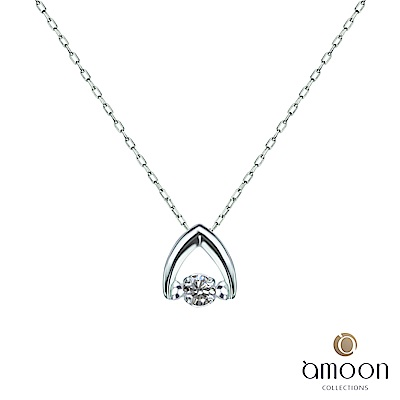 amoon 永恆回憶系列 挑動 鉑金鑽石項鍊