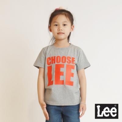 Lee 童裝-CHOOSE LEE短袖圓領Tee恤-麻灰色