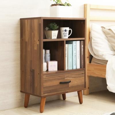 澄境 工業風三格單抽床頭櫃/收納櫃/茶几48.5x30.5x75cm-DIY