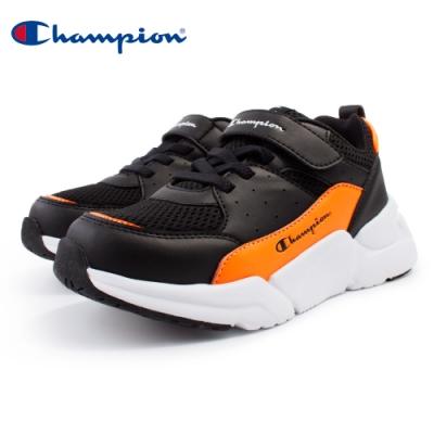 【Champion】RIPPLE 運動童鞋 透氣網布 大童鞋-黑/橘(KSUS-0362-14)