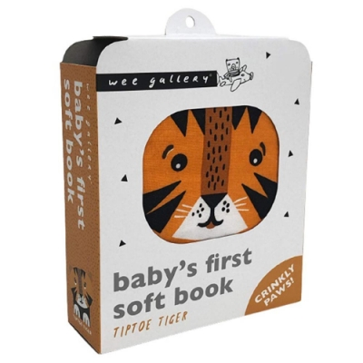 Baby s First Soft Book:TipToe Tiger 老虎的探險布書