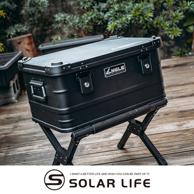 ANGLE 鋁製收納箱 47公升 多功能露營鋁箱-黑色.鋁合金裝備箱 露營收納箱 戶外置物箱 鐵製軍風儲物箱 輕量化鋁箱