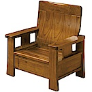 綠活居 米瑟典雅風實木單人座沙發椅-83.5x73x99cm免組