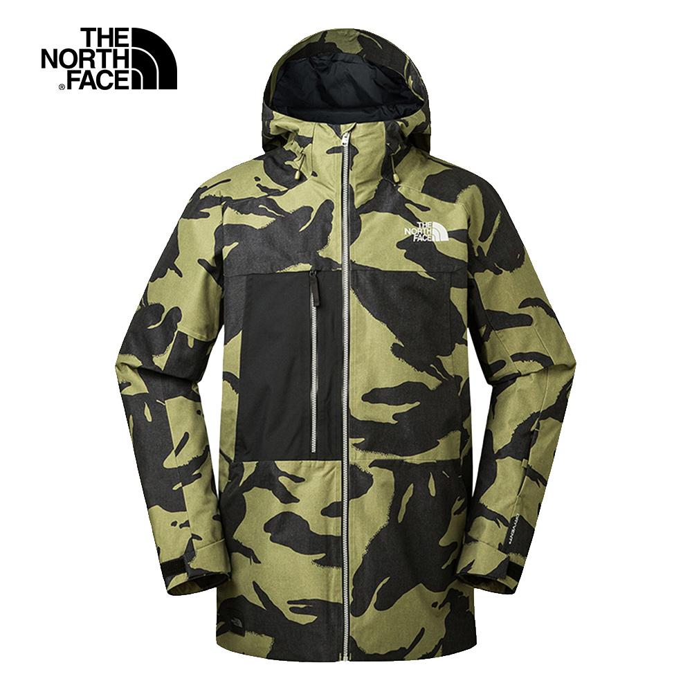 The North Face北面男款黑綠撞色休閒保暖雪衣外套|3IFBN0W