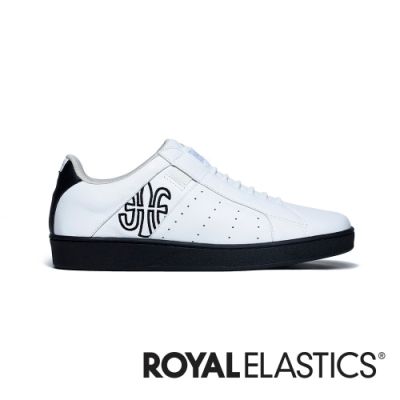 ROYAL ELASTICS Icon Genesis 白黑真皮運動休閒鞋 (男) 01901-009