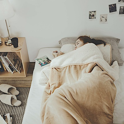 絲薇諾 沙漠金 加厚版法蘭羊羔絨睡袋毯(1.64kg)