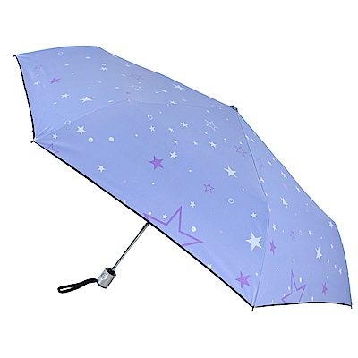 2mm 100%遮光 采漾印花黑膠降溫自動開收傘(星星)