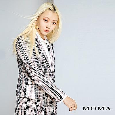 MOMA 多彩線條毛呢西裝外套