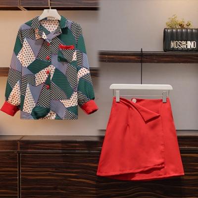【韓國K.W.】(預購)賣瘋了花蕾蔓延拼接套裝裙-1色