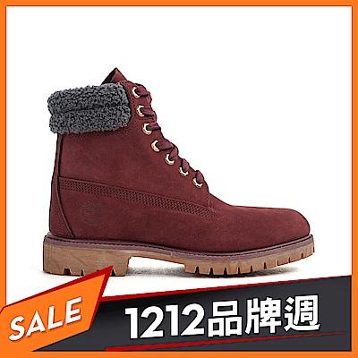 Timberland 男款磚紅色防水皮革六吋靴|A1ZK8